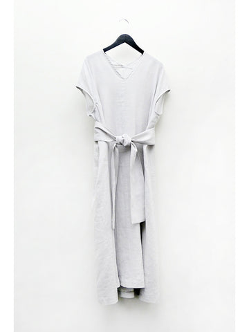 Cosmic Wonder Light Linen Ancient Dress, Light Grey - Stand Up Comedy