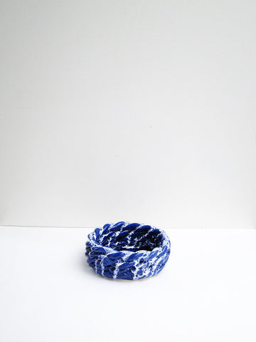 CristaSeya Anaphi Ceramic Bowl, Glossy Blue - Stand Up Comedy