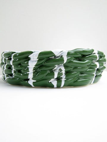 Anaphi Ceramic Bowl, Glossy Green