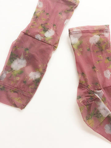 Darner Mesh Socks, Dusty Rose Rosendals Floral