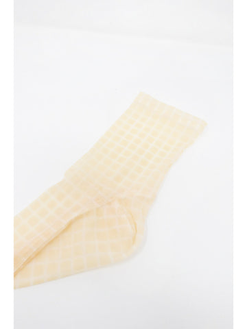 Darner Mesh Socks, Mini White Cage Mesh