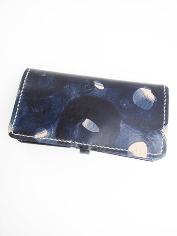 Eatable of Many Orders A1 Long Wallet, Indigo Handpainted - Stand Up Comedy