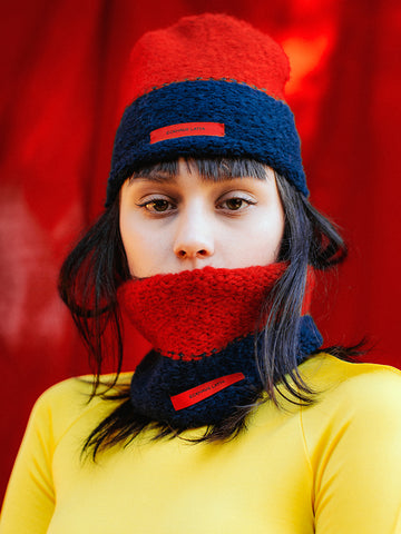 Eckhaus Latta Snood, Red/Navy - Stand Up Comedy