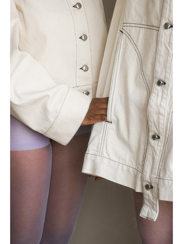 Eckhaus Latta Denim Jacket, Natural