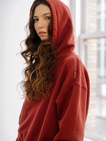 Eckhaus Latta Hoodie, Oxblood - Stand Up Comedy