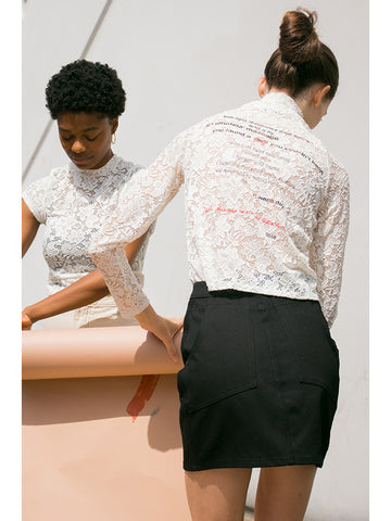 Eckhaus Latta Lace Tee - Stand Up Comedy