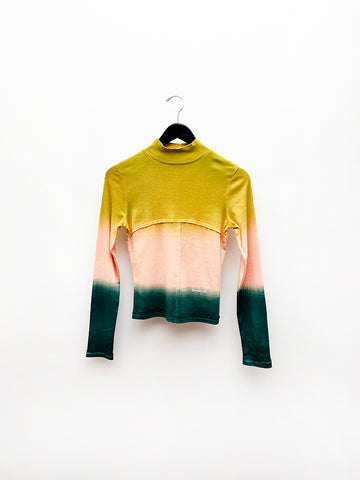 Eckhaus Latta Lapped Baby Turtleneck, Sunset
