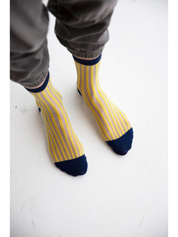Eckhaus Latta Mid Sock, Gold Mint