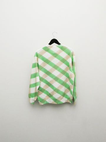 Eckhaus Latta Sweatshirt, Green Lattice