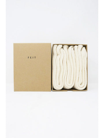 Feit 3-Pack Wool Long Socks, Natural