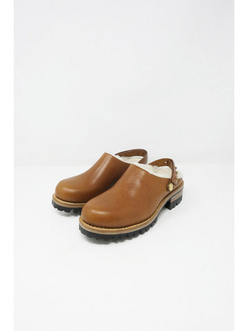 Feit Shearling Clog, Natural