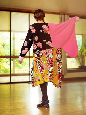 Femail Floral Sweatshirt Dress - Stand Up Comedy