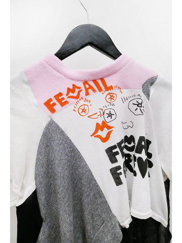 Femail Merch Tee, Femail is Forever Pink Neck