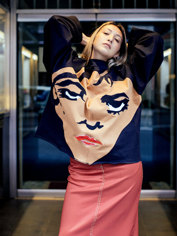 Francesca Longo Face Sweatshirt No. 1