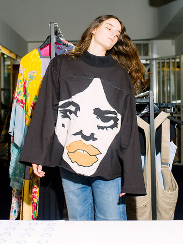 Francesca Longo Face Sweatshirt No. 4