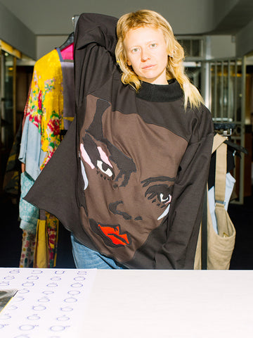 Francesca Longo Face Sweatshirt No. 5
