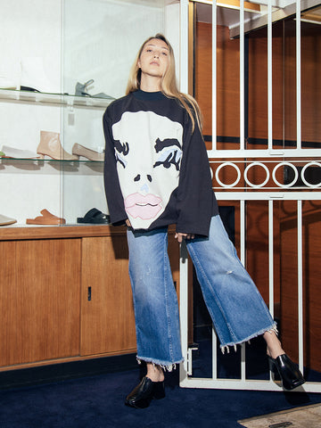Francesca Longo Face Sweatshirt No. 2
