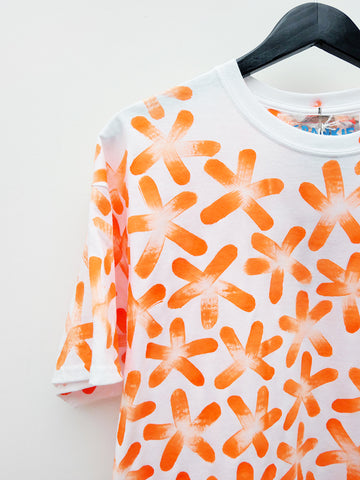 Frankie Krupa Vahdani Neon Orange Cherry Blossom T-Shirt