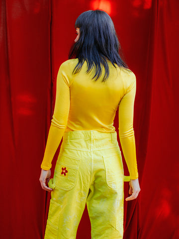 Eckhaus Latta Raglan Turtleneck, Yellow