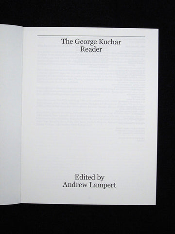 The George Kuchar Reader