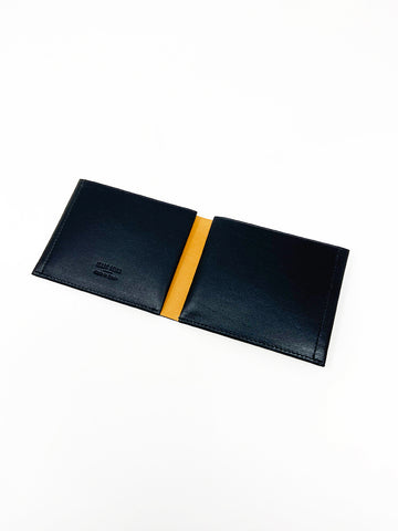 "Isaac Reina ""Une feuille"" Wallet A, Black/Natural"