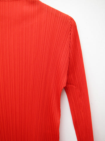 Issey Miyake Long Sleeve Dress, Red
