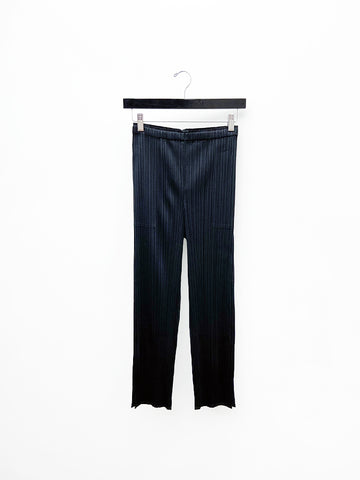 Issey Miyake Straight Trouser with Ankle Slit, Black