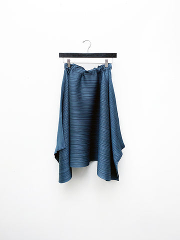 Issey Miyake Squared Skirt, Old Blue