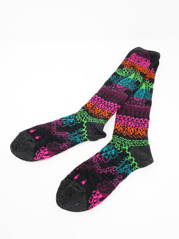 Kapital Rainbow Henna Socks, Black