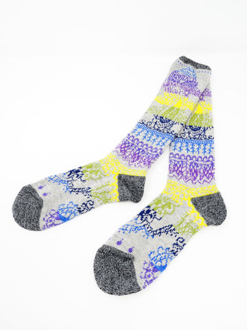 Kapital Rainbow Henna Socks, Gray