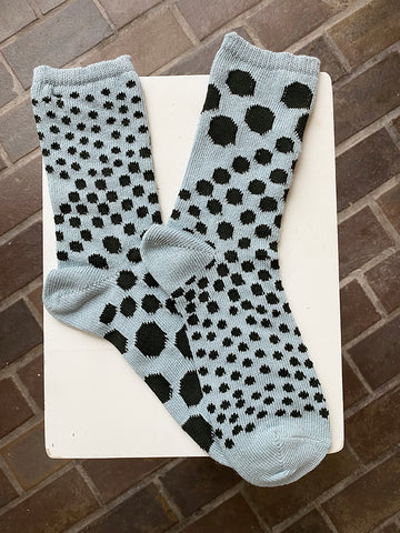 Kapital Asymmetry Dot Socks, Blue