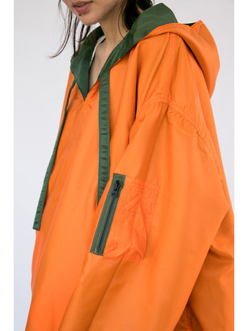 Kapital Reversible Big Baja Parka, Olive/Orange