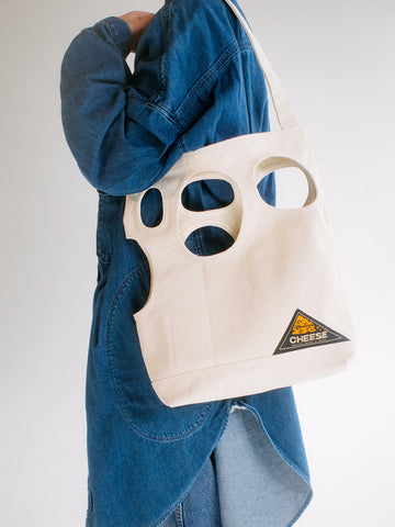 Kapital #4 Canvas Cheese Bag, Ecru - Stand Up Comedy