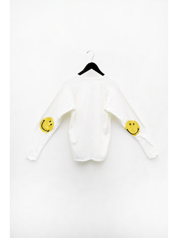 Kapital Chef Smiley Long Sleeve T, White