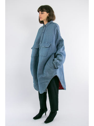 Kapital Double Weave Denim x Quilting Shirt Coat