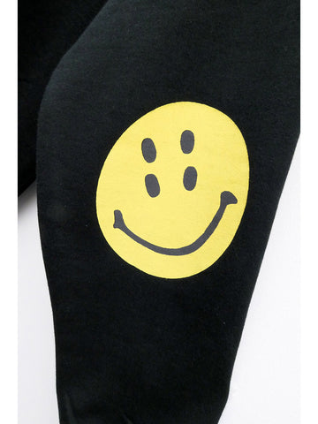 Kapital Eco Fleece Smiley Sweatshirt, Black