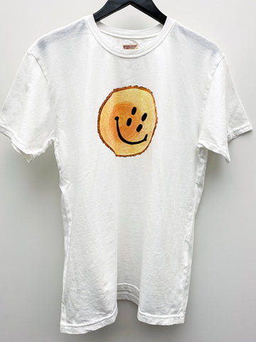 Kapital Jersey Rain Smile Trunk T-Shirt, White