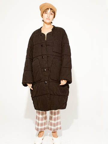 Kapital Rip Stop Quilted Samu Coat - Stand Up Comedy