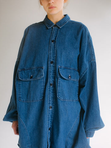 Kapital Denim Sloppy Shirt, Indigo - Stand Up Comedy