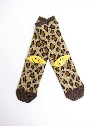 Kapital Yarns Smiley Socks, Leopard
