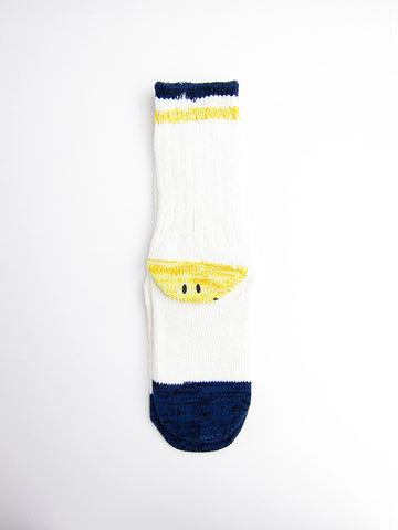 Kapital Wool Ivy Smiley Socks, White