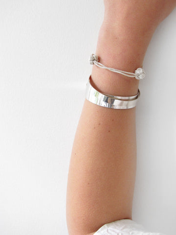 Kat Seale Medium Cuff, Silver - Stand Up Comedy