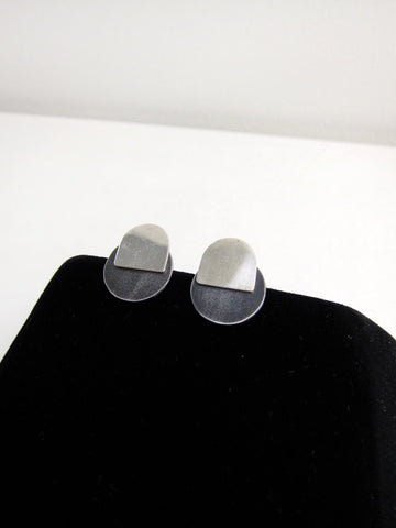2-Part Earrings, Larger Circles