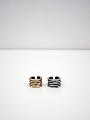 Ribbed Ring, Sterling Silver