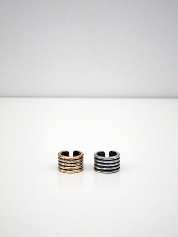 Kat Seale Ribbed Ring, Bronze