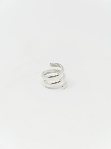 LL, LLC Sans II Ring, Sterling Silver, Double Spiral
