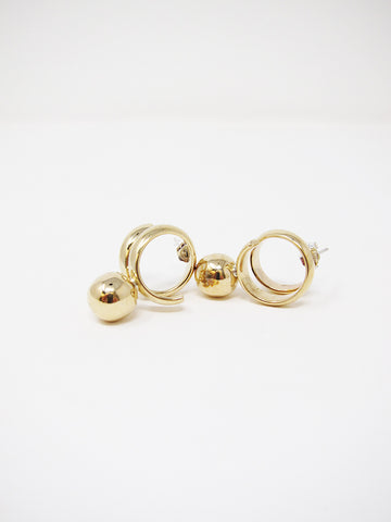 LL, LLC Maydeto II Earring, Polished Tumbaga Spheres