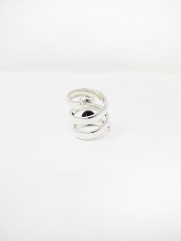 LL, LLC Maydeto II Ring, Silver w/Silver and Onyx