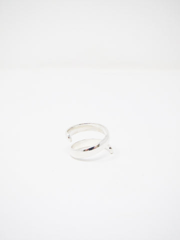 LL, LLC Sans I Ring, Sterling Silver, Single Spiral
