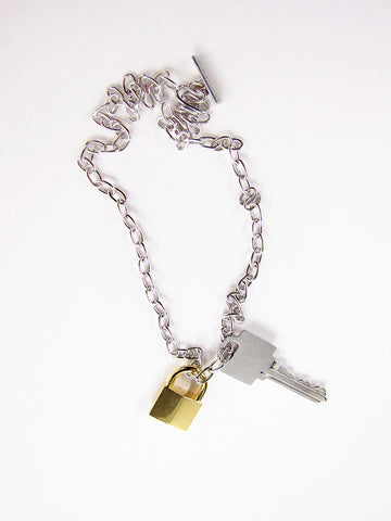 Lauren Klassen Lock and Key Necklace, Silver - Stand Up Comedy